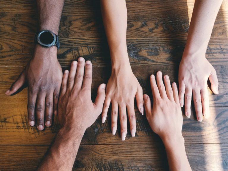 Mixed Race Hands